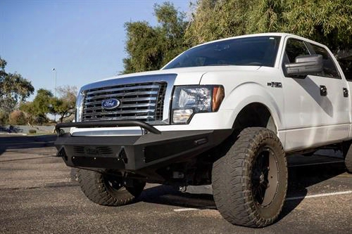 2010 Ford F-150 Addictive Desert Designs Honeybadger Front Bumper With Tool Boxes