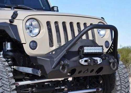 2010 Jeep Wrangler (jk) Artec Industries Nighthawk Front Bumper With Mid Tube Stinger