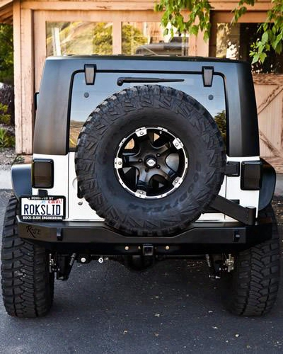 2010 Jeep Wrangler (jk) Rock Slide Engineering Rear Bumper With Tire Carrier