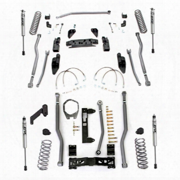 2010 Jeep Wrangler (jk) Rubicon Express Rubicon Express 3.5 Inch Extreme Duty 4-link Front/rear 3-link Long Arm Lift Kit With Fox Performan