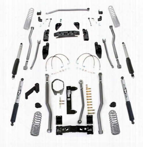 2010 Jeep Wrangler (jk) Rubicon Express Rubicon Express 3.5 Inch Progressive Coil Extreme Duty Long Arm Lift Kit With Monotube Shocks - Jk4
