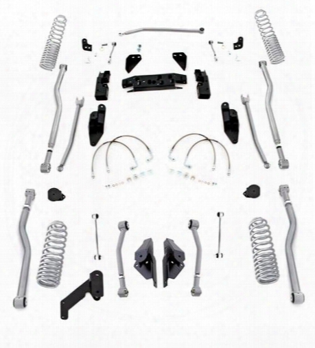 2010 Jeep Wrangler (jk) Rubicon Express Rubicon Express 3.5 Inch Progressive Coil Extreme Duty 4-link Long Arm Lift Kit - Jk4443p