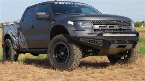 2013 Ford F-150 Addictive Desert Designs Honeybadger Front Bumper