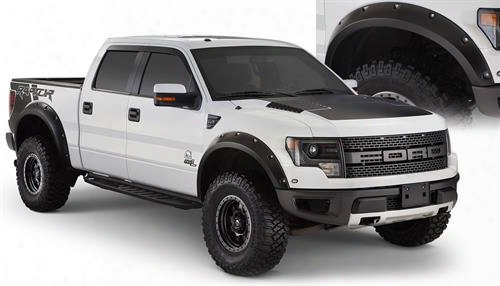 2013 Ford F-150 Bushwacker Ford F-150 Raptor Pocket Style Fender Flares