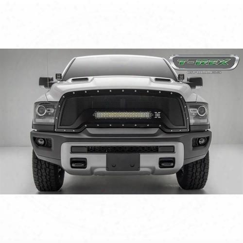 2015 Dodge 1500 T-rex Grilles T-rex Grilles Torch Series Led Grille (black) - 6314641