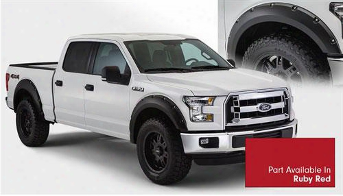 2015 Ford F-150 Bushwacker Ford F-150 Max Coverage Fender Flare Set In Ruby Red