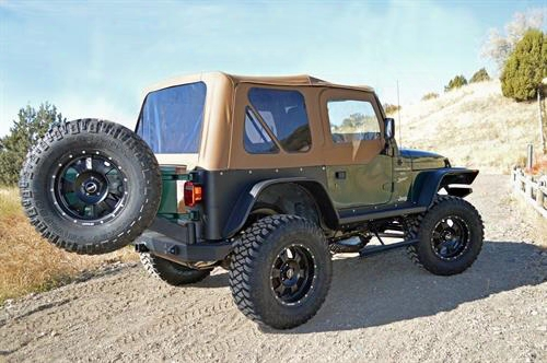 Rock Slide Engineering Rock-slide Engineering Rear Bumper With Tire Carrier (black) - Rb-f-100-tj Rb-f-100-tj Rear Bumpers