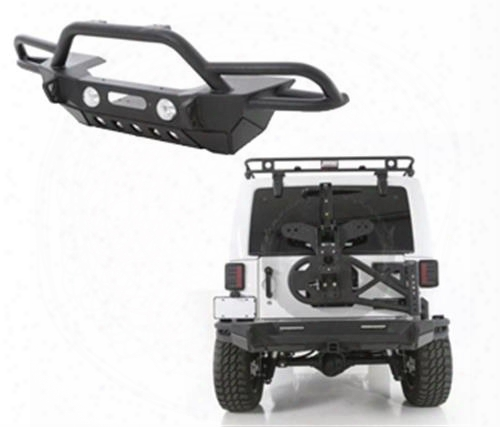 Smittybilt Smittybilt Src Gen2 Front Bumper Package With Tire Carrier (black) - Bmprpkg2.2 Bmprpkg2.2 Front Bumpers