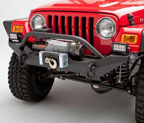 1995 Jeep Wrangler (yj) Body Armor 4x4 Jeep Wrangler Formed Front Bumper With Grill Guard And Winch Mount