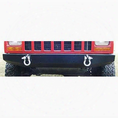 1998 Jeep Cherokee (xj) Rock Hard 4x4 Parts Front Bumper With D-ring Mounts In Black Powder Coat