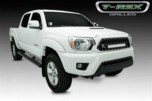2012 Toyota Tacoma T-rex Grilles Torch Series; Led Light Grille