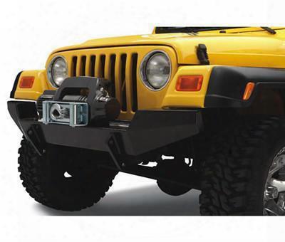 2002 Jeep Wrangler (tj) Bestop Highrock 4x4 Front Winch Bumper In Matte Black