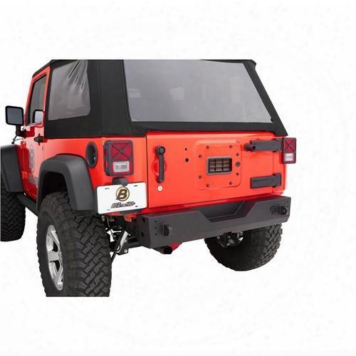 2010 Jeep Wrangler (jk) Bestop Bestop Highrock 4x4g�⢠Modular Rear Bumper In Black - 44940-01