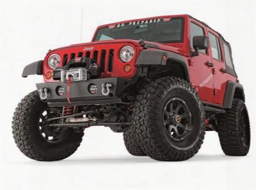 2010 Jeep Wrangler (jk) Warn Rock Crawler Stubby Light And D-ring Mounts