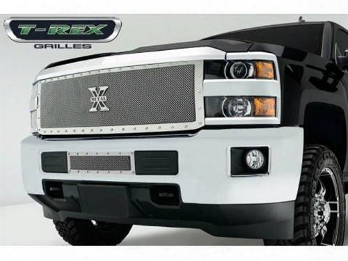 2015 Chevrolet Silverado 2500 Hd T-rex Grilles X-metal Series; Formed Mesh Grille