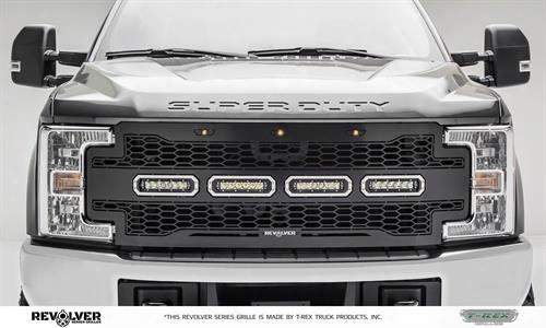 2017 Ford F-250 Super Duty T-rex Grilles T-rex Grilles Revolver Series Led Grille - 6515641