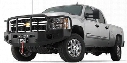 2011 CHEVROLET SILVERADO 2500 HD Warn Heavy Duty Winch Mount Bumper with Grille Guard in Black Powder Coat