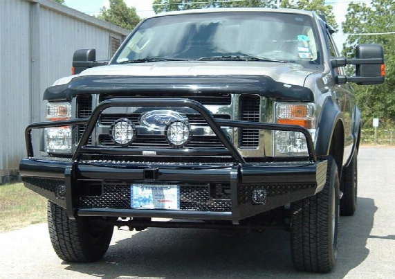 2008 Ford F-550 Super Duty Ranch Hand Legend Bullnose Series Front Bumper Retains Factory Tow Hook And Fog Lights