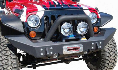 2010 Jeep Wrangler (jk) Off Camber Fabrications Front Full Width Winch Bumper With Line-x Coating