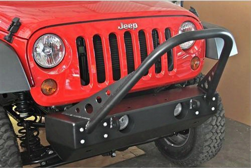 2010 Jeep Wrangler (jk) Rock Hard 4x4 Parts Shorty Stinger Front Bumper For Factory Fog Lights