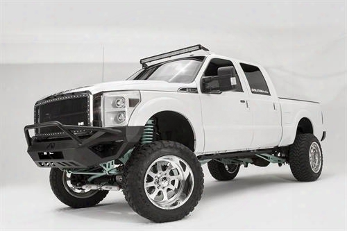 2012 Ford F-450 Super Duty Fab Fours Vengeance Series Front Pre-runner Bumper In Black Powder Coat