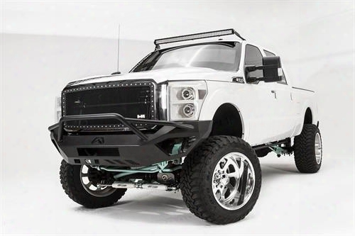 2012 Ford F-450 Super Duty Fab Fours Vengeance Series Front Pre-runner Bumper In Bare Steel