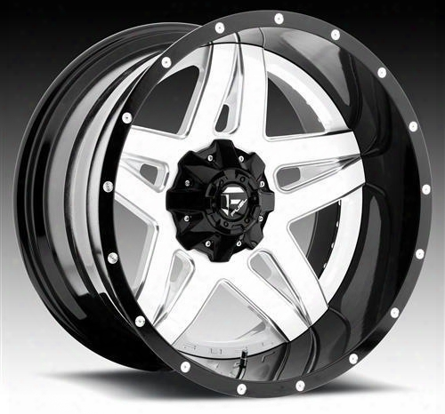 Mht Fuel Offroad Wheels Mht Fuel Offroad Full Blown, 20x10 Wheel With 8 On 170 Bolt Pattern - White Milled - D25520001747 D25520001747 Mht Fuel Off Ro