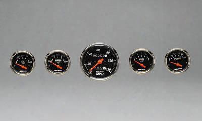 Auto Meter Auto Meter Designer Black Street Rod Kit - 1408 1408 Gauge Set