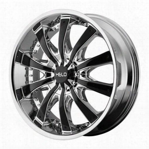 Helo Helo He875, 22x9.5 Wheel With 6 On 135 And 6 On 5.5 Bolt Pattern - Chrome With Gloss Black Accents- He87522967238 He87522967238 Helo Wheels