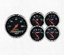 Auto Meter Auto Meter Designer Black Street Rod Kit - 1421 1421 Gauge Set