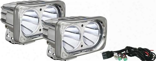 Vision X Lighting Vision X Lighting Optimus Series Prime 10-degree Dual Led Chrome Light Kit - Spot Beam - 9131535 9131535 Offroad Racing, Fog & Drivi
