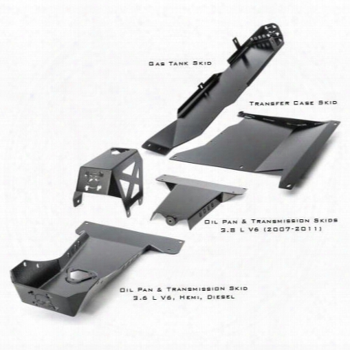 River Raider Complete Skid Plate System Arm-3785-4duh Skid Plates