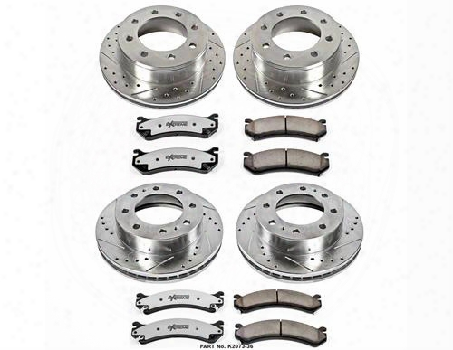 Power Stop Power Stop Heavy Duty Truck And Tow Brake Kit - K2073-36 K2073-36 Disc Brake Pad And Rotor Kits