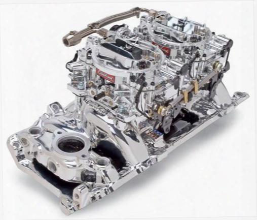 Edelbrock Edelbrock Rpm Air-gap Dual-quad Intake Manifold/carburetor Kit - 20654 20654 Intake Manifold/carb Kit