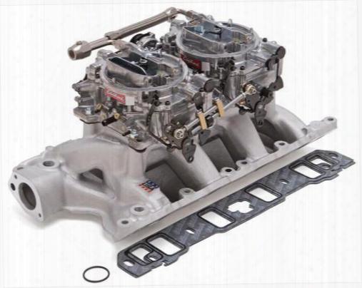 Edelbrock Edelbrock Rpm Air-gap Dual-quad Intake Manifold/carburetor Kit - 2085 2085 Intake Manifold/carb Kit