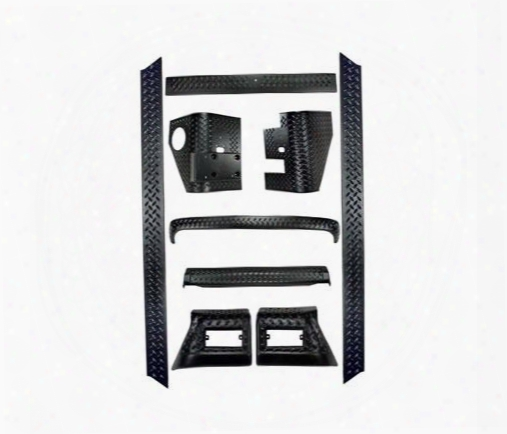 Rugged Ridge Rugged Ridge Body Armor Full Kit (black Plastic) - 11650.5 11650.50 Body Protector Kit
