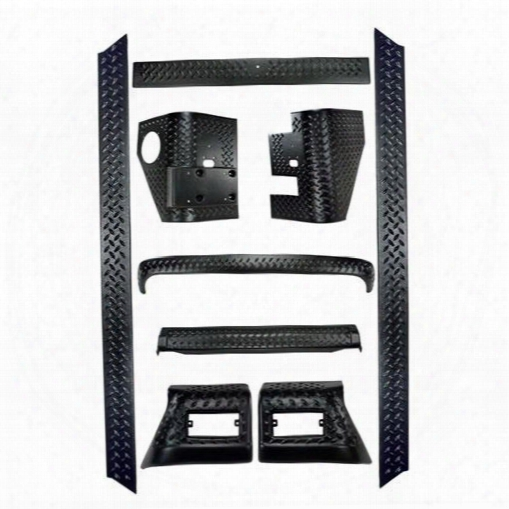 Rugged Ridge Rugged Ridge Body Armor Kit (black Plastic) - 11650.6 11650.60 Body Protector Kit