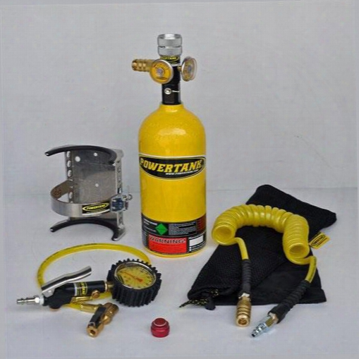 Power Tank Power Tank 2.5lb. Power Shot Sidearm Package B With Bracket (yellow) - Ps02-4250-yl Ps02-4250-yl Compressed Air System