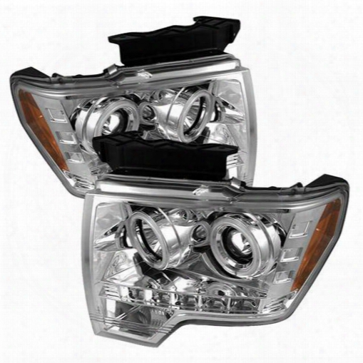 Spyder Auto Group Spyder Auto Group Ccfl Led Projector Headlights (chrome) - 5030115 5030115 Headlights, Housings And Conversions