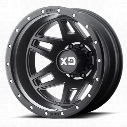 Moto Metal XD130 Machete Dually, 20x8.25 Wheel with 8 on 6.5 Bolt Pattern - Satin Black XD130208807127 XD Series Wheels