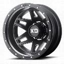 Moto Metal XD130 Machete Dually, 20x8.25 Wheel with 8 on 6.5 Bolt Pattern - Satin Black XD130208807127 XD Series Wheels