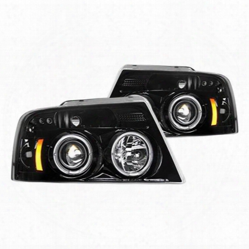 Recon Recon Projector Headlights (smoke) - 264198bk 264198bk Headlights, Housings And Conversions