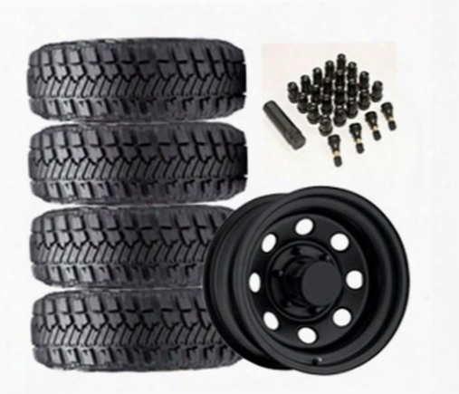 Genuine Packages Goodyear Wrangler Mt/r With Kevlar 33x12.50r-15lt And Trail Master Tm5 15x8 Wheel Package - Set Of 4 - Tirepkg125 Tirepkg125 Tire And