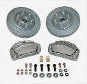 Stainless Steel Brakes Stainless Steel Brakes Tri-Power 3-Piston Disc To Disc Upgrade Kit (Anodized) - A165-2 A165-2 Disc Brake Conversion Kits