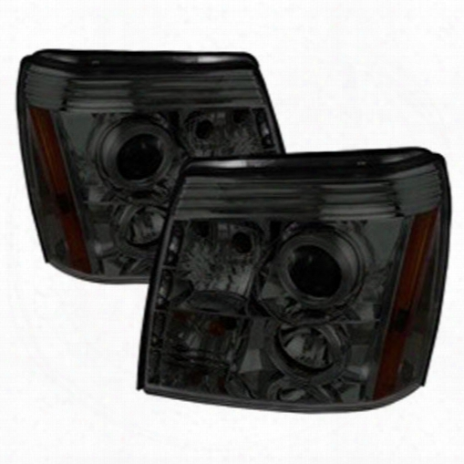 Spyder Auto Group Spyder Auto Group Halo Drl Led Projector Headlight - 5038067 5038067 Headlights, Housings And Conversions
