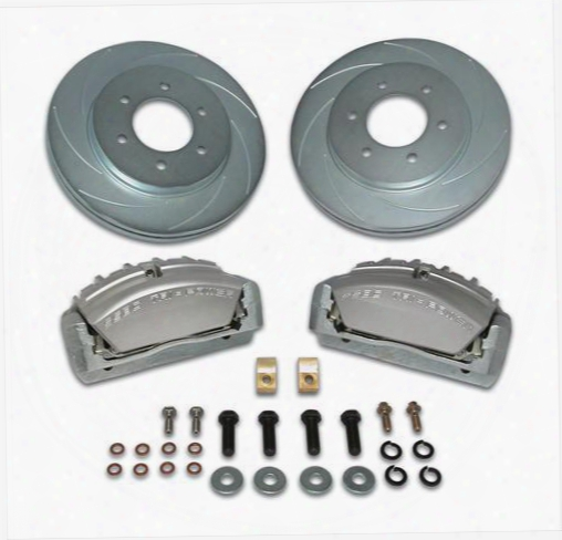 Stainless Steel Brakes Stainless Steel Brakes Tri-power 3-piston Disc To Disc Upgrade Kit (anodized) - A165-3 A165-3 Disc Brake Conversion Kits
