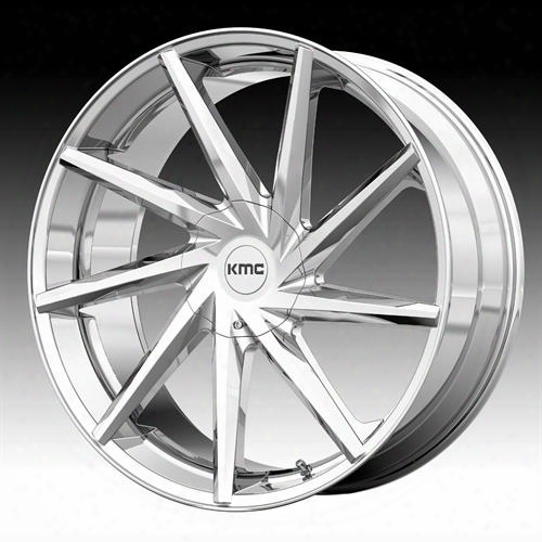 Kmc Wheels Burst Km705, 22x9 Wheel With 6x5.5 And 6x135 Bolt Pattern - Chrome Km70522966230 Kmc Wheels