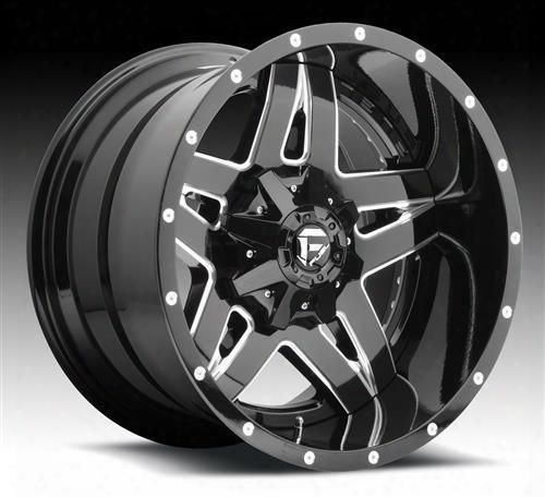 Mht Fuel Offroad Wheels Mht Fuel Offroad Full Blown, 24x8.25 Wheel With 8 On 210 Bolt Pattern - Black Milled - D254248293fb D254248293fb Mht Fuel Off