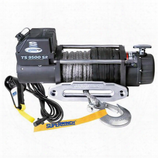 Superwinch Superwinch Tiger Shark 9500 Winch With Synthetic Rope - 1595201 1595201 8,000 To 10,500 Lbs. Electric Winches