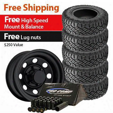 Genuine Packages Goodyear Duratrac Tire 285/70r17 And Trail Master Tm9 Wheels 17x9 Package - Set Of 5 - Tirepkg153 Tirepkg153 Tire And Wheel Packages